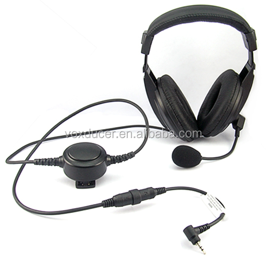 [M-E1965-TG]Foldable aviation over ear boom mic with Mini-din headset for Jingtong radio JT-208 JT-308 JT-2118 JT-3118