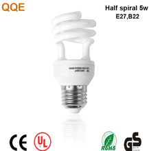 High quality low price 12w Half sspiral CFL lamp fluorescent lights China energy saving bulbs