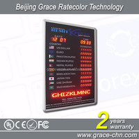 Custom bank led display for currency exchange rates