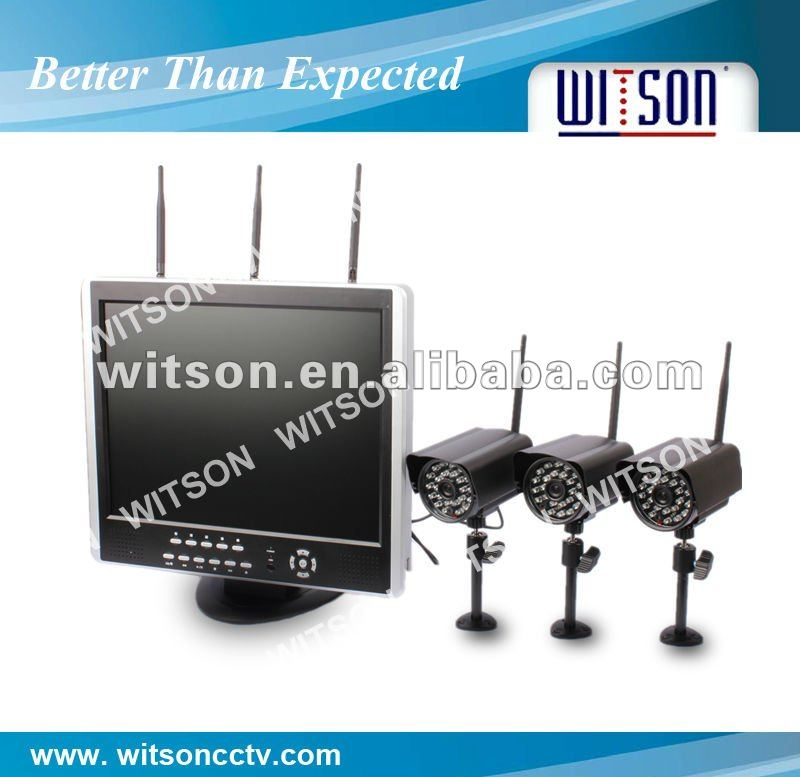 W3-WD6404CWM Wireless CCTV DVR Kit With 4CH H.264 Stand-alone DVR with 15 inch LCD Monitor