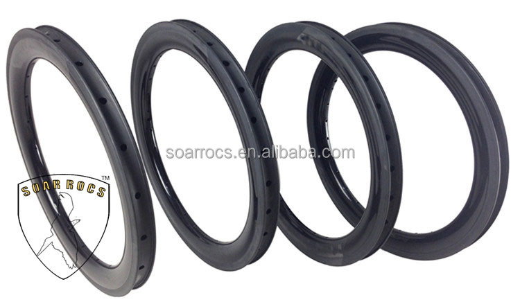 "Mini BMX bicycle wheels carbon T800 40mm clincher U shape 25mm width 18"" BMX wheels"
