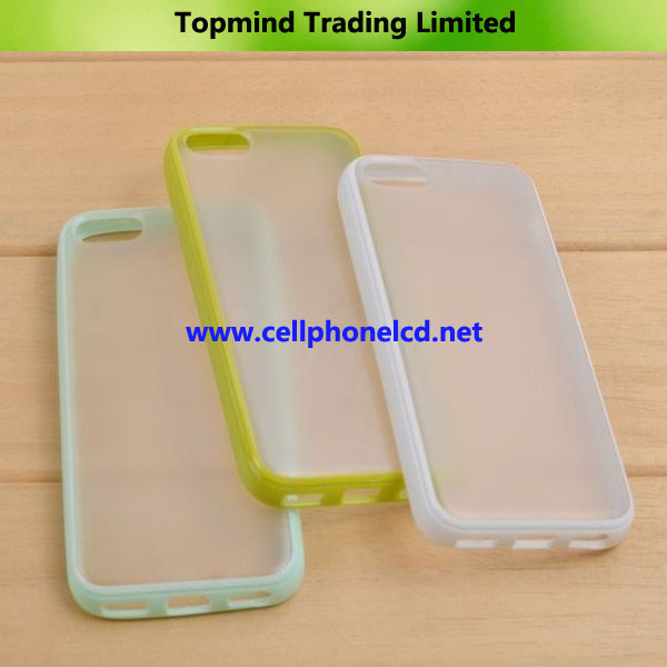 Double Colors Transparent TPU + PC Case for iPhone 5C
