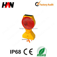 Waterproof super bright led solar hazard warning light