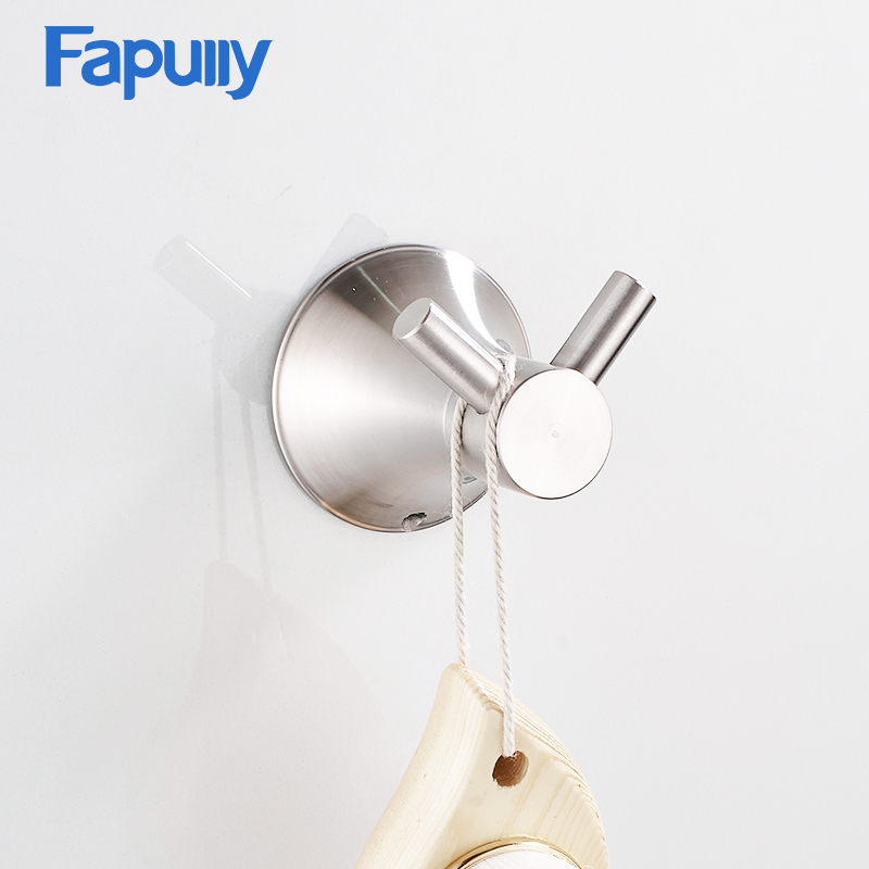 Fapully Modern Design Stainless Steel Wall Coat Rack Hook
