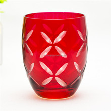 2016 promotional home use fruit juice cup gift glass cup drinking glassware red wine glass round tumbler cups
