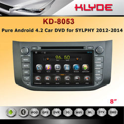 special 2 din GPS 3G BT Radio AUX IN car dvd for SYLPHY 2012-2014 B17 2012-2014