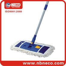 cotton flat mop with plastic mop frame