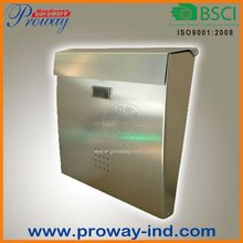 wall mounted mailbox in stainless steel