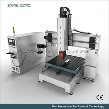 High efficiency+dust proof power and strong 5 axis cnc stone router
