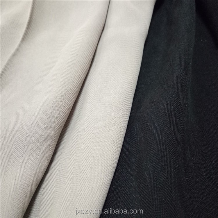 100% mulberry spun silk yarn Herringbone Sand Wash Spun Silk Twill Fabric