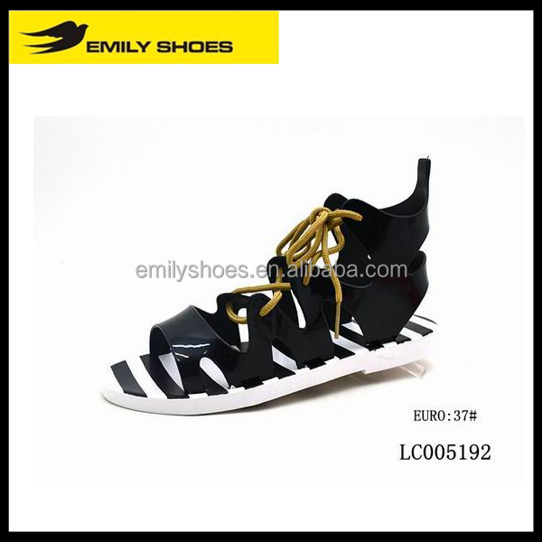 Fashion strap zebra-stripe shoes sandals 2016 PCU sandals