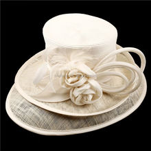 Best selling excellent quality ladies church hat and women straw hat for sale