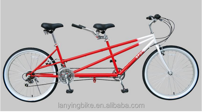2017 new design popular 26inch two seater tandem bike for lovers