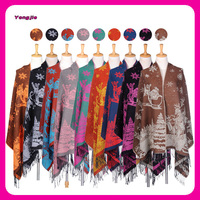 New Arrival China Supplier Warm Deer Print Wholesale Christmas Ladies Winter Shawl for Women