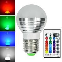 Fod-sports E27 3W RGB LED 16 Multi Color Magic Lamp Light Bulb with Wireless Remote Controller