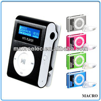 Support SD Card/Internal Memory Clip digital mp3 player