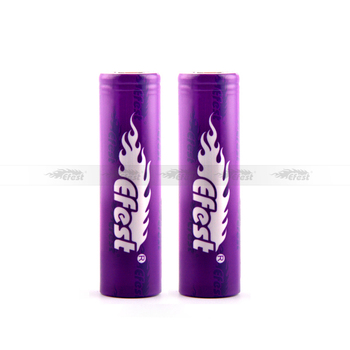 newest 18650 40a efest imr purple 18650 2600mah 40A Flat top battery
