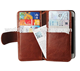 Genuine Leather Wallet Case for iPhone 8 Plus,6 Credit Cards Booklet Design