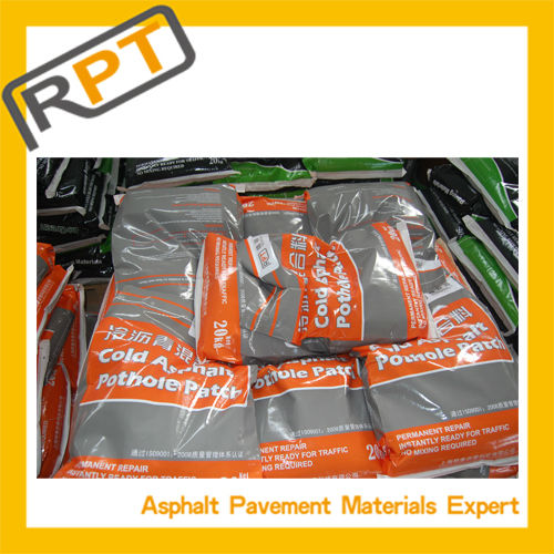 Low temperature season & raining days can use asphalt cold patch