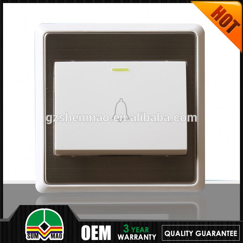 emergency doorbell push button switch plate with the home door