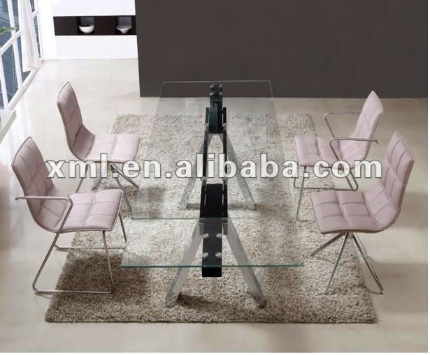 fashion extendable glass dining table