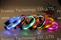 High quality custom pet products led dog collar with strong hooks led light dog collar