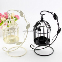 Vintage Metal Bird Cage Candle Holder Stand Lanter Wedding Table Decoration