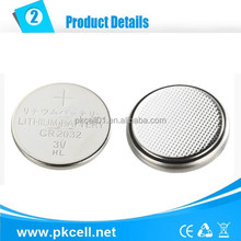 3v lithium battery cr2032 watch button cell, cylindrical Li/MnO2 Battery