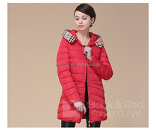 Latest design long and thick winter down jacket for women
