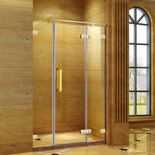 new frameless hinge glass shower screen doors GD9017