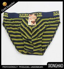 New Stripe 95% Cotton and 5% Lycra children thongs underwear with customized paper label