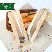 Top Quality Good Price Clear Window Food Bags Baguette Kraft Paper Bags