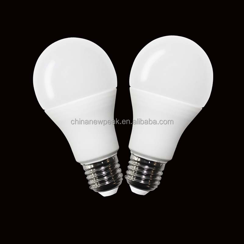 plastic+aluminum led bulb in china for home brightness warm white 9w led bulb china manufacture 20160308J