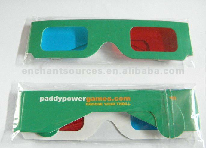 Active 3d glasses/paper glasses/customized logo
