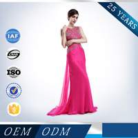 Sexy Backless Hole Waist Illusion Beaded Mermaid Evening Pregnant Women Dresses