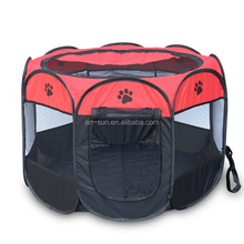 Portable Foldable Outdoor 8 Panels Dog Tent Pet Playpen Tent With Carry Bag