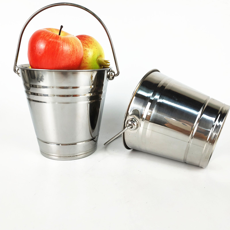 1.5L stainless steel 304 champagne wine bucket cooler metal ice bucket for beer