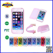 Fashion Soft TPU Silicone Transparent Clear Flip Case Cover For iPhone 6 4.7inch