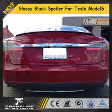 Glossy Black Carbon Fiber Auto Rear Back Spoiler for Tesla Model S 85 P 85