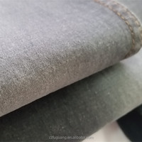 Cotton stretch twill woven grey color denim fabric for ladies