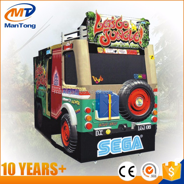 Coin operated Let's Go Jungle video gun shooting game machine
