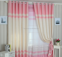 printing flower balcony curtains custom blackout curtain Fabric window drapery Window Treatment 100% polyester