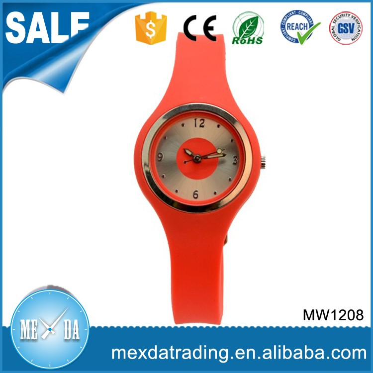 Quality christmas promotion gift wristwatch,watch silicone strap children