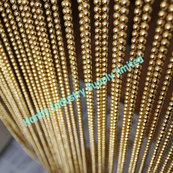6mm Vintage Gold Metal Bead Curtain