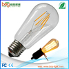 CE RoHS 110lm/w Dimmable ST64 Edison 6w 12v led filament light
