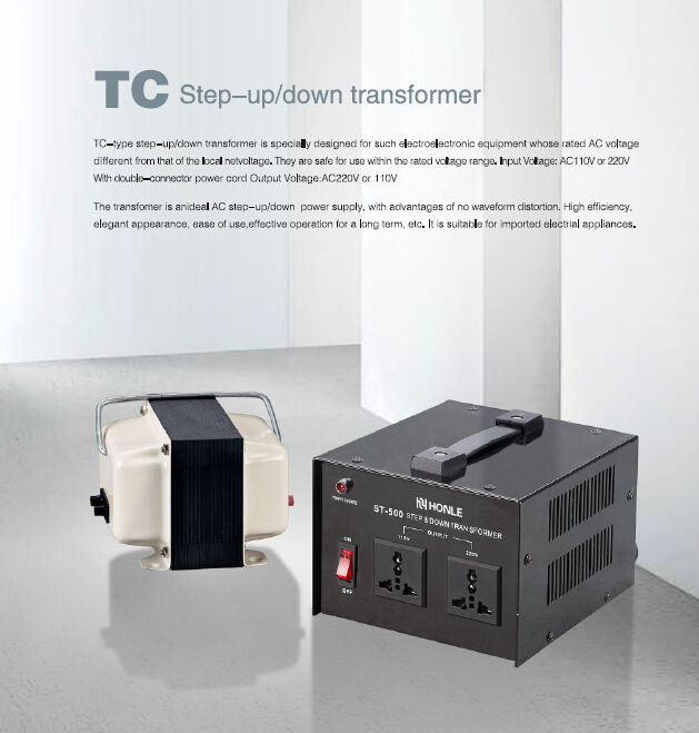 TC converter step up transformer output Wide range step up voltage transformer 220v to 110v voltage converter