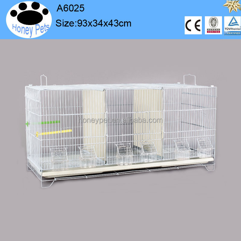 White color 90*43*34 cm metal canary wire bird breeding cage