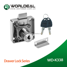 K338 Hot style metal cabinet door lock/office desk drawer lock