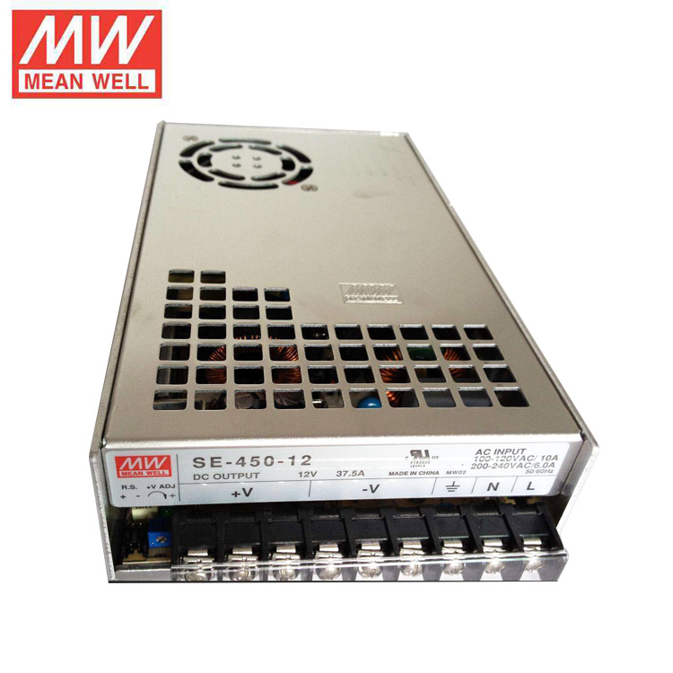 MeanWell SE-450-12 Rainproof 360W 5V 30A 37.5A 400W 12V 24V 36V 48V LED Switching Power Supply