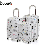 BUBULE PC bag suitcase ziplock bag aluminum handle luggage trolley case